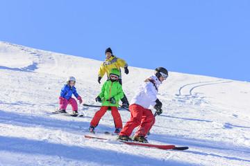 Skifahren mit den Kindern