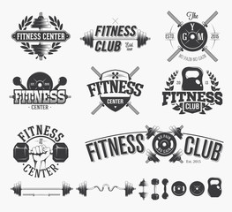 Typographic Fitness Emblems