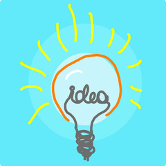 bulb idea drawing vector