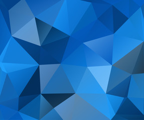 Blue Polygonal Triangle Gradient Abstract Background