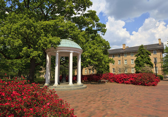 Fotobehang Artistiek mon. Historic Old Well at UNC Chapel Hill in North Carolina
