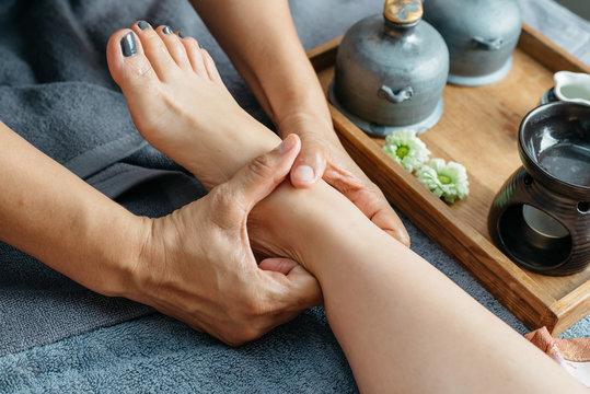 Thai foot  and leg massage series