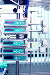 Medical appliances in the ICU