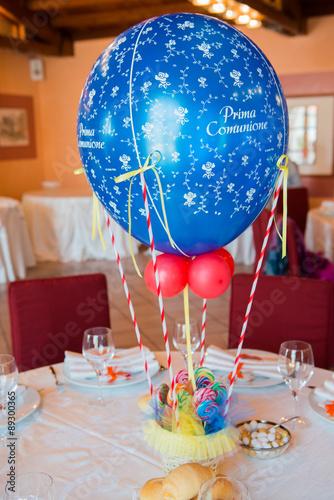 Palloncini per addobbi e decorazione per prima comunione stock photo and royalty free images - Addobbo tavola prima comunione ...