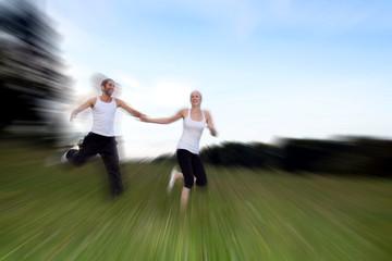 Paar beim Laufen