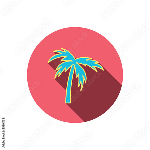 Palm Tree Icon Travel Or Vacation Symbol Stock Image And Royalty