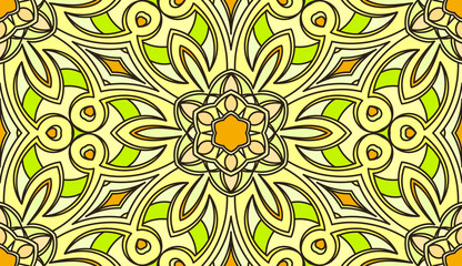 Seamless abstract tribal pattern. Hand drawn ethnic texture, vec