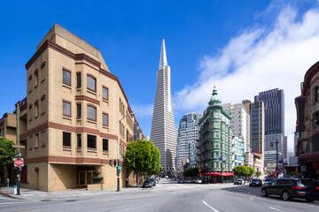 Deurstickers San Francisco San Francisco skyline