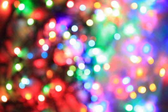 color christmas lights background