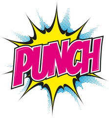 punch pop art cartoon explosion bunt
