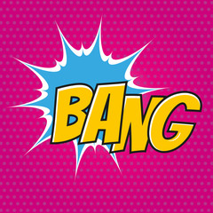 bang pop art cartoon explosion bunt