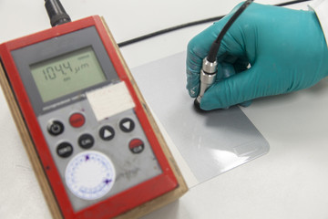 Measuring paint film thickness