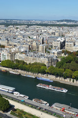 Cityscape of Paris from the Eiffel Tower