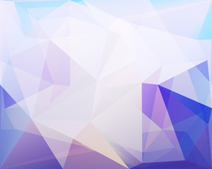 Polygonal triangle vector background, blue, rose and turquoise c