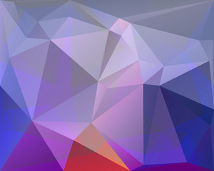 Polygonal triangle vector background, white, blue, turquoise, re
