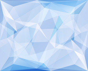 Polygonal triangle vector background, blue and turquoise colored