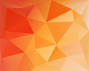 Polygonal triangle vector background, orange, red and yellow col