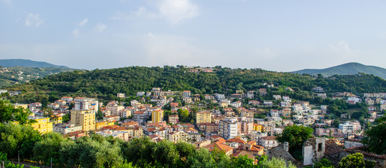 Aerial view of a coast in Agropoli, Italy