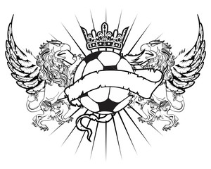 gryphon soccer coat of arms crest in vector format