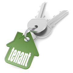 Keychain with tenant word