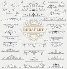 Kit of Vintage Elements for Invitations, Banners, Posters, Placa