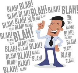 Blah! blah! blah! corporate character