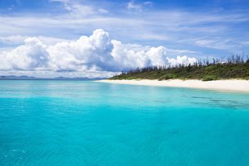 沖縄のビーチ・水納島