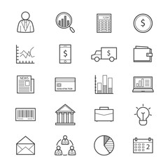 Business and Finance Money Icons Line