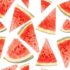 Slices of watermelon background. pattern