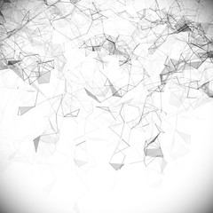 Low poly, Molecule And Communication Background. Abstract white