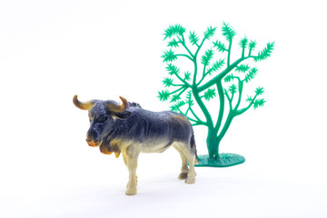 animal figurine toy isolated over a white background