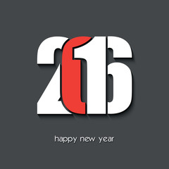 2016 Happy new year creative greeting card design
