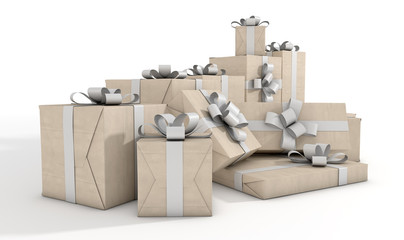 Scattered Gift Box Pile