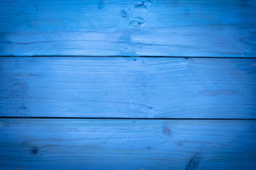 Closeup of  blue wood background