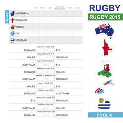 Rugby 2015, Pool A, Match Schedule, all matches, time and place.