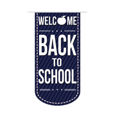 Welcome back to school banner design