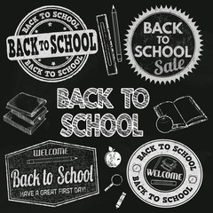 Back to school label set