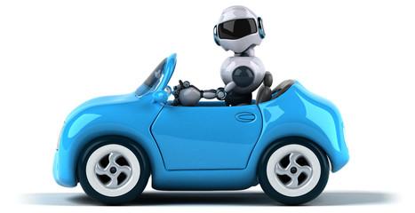 Robot and car