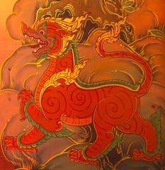 Lai Sing thai Mural