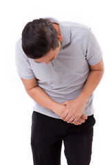 man suffering from wrist joint pain