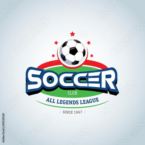ddab6b826 Soccer logo. Green