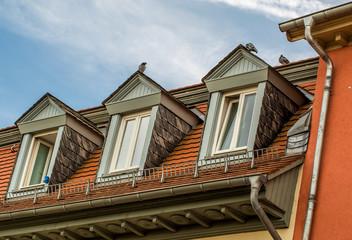 Drei Dachgaupen einer Wohnung in Bad Kreuznach