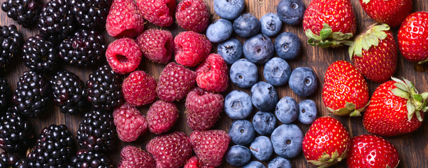 Printed kitchen splashbacks Fruits Berries