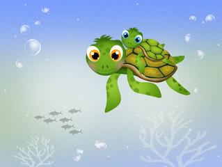 funny sea turtles