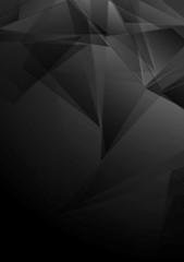 Dark black low poly vector tech design