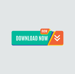 Colorful download web button. Modern flat design.