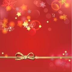 weihnachtlicher Hintergrund mit goldener Schleife