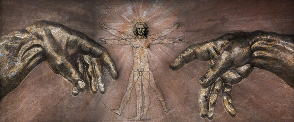 The Renaissance - Vitruvian Man and Creation of Adam