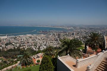 Stadtansicht von Haifa, Israel