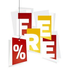 Free red percent red orange background